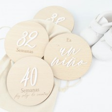 "Set de placas embarazo ""RELIEVE"" personalizable✎"