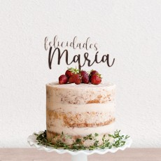Cake topper felicidades | Lovely Mint