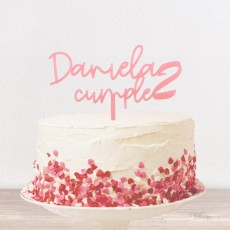 Cake topper cumple | Lovely Mint