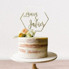 Cake topper hexagono | Lovely Mint