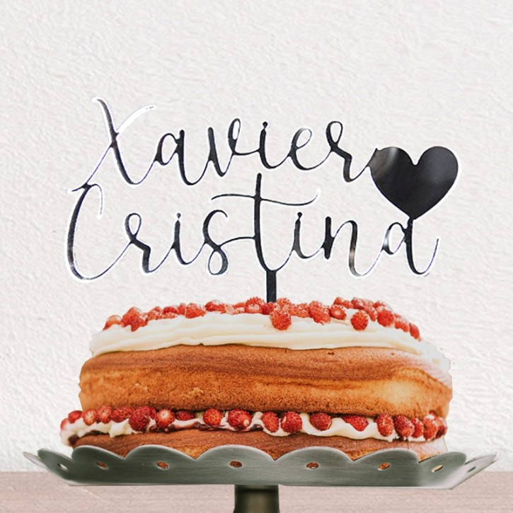 Cake topper corazon | Lovely Mint