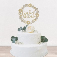 Cake topper flores | Lovely Mint