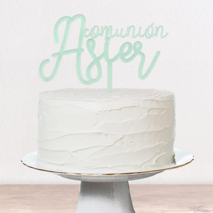 Cake topper bautizo comunion | Lovely Mint